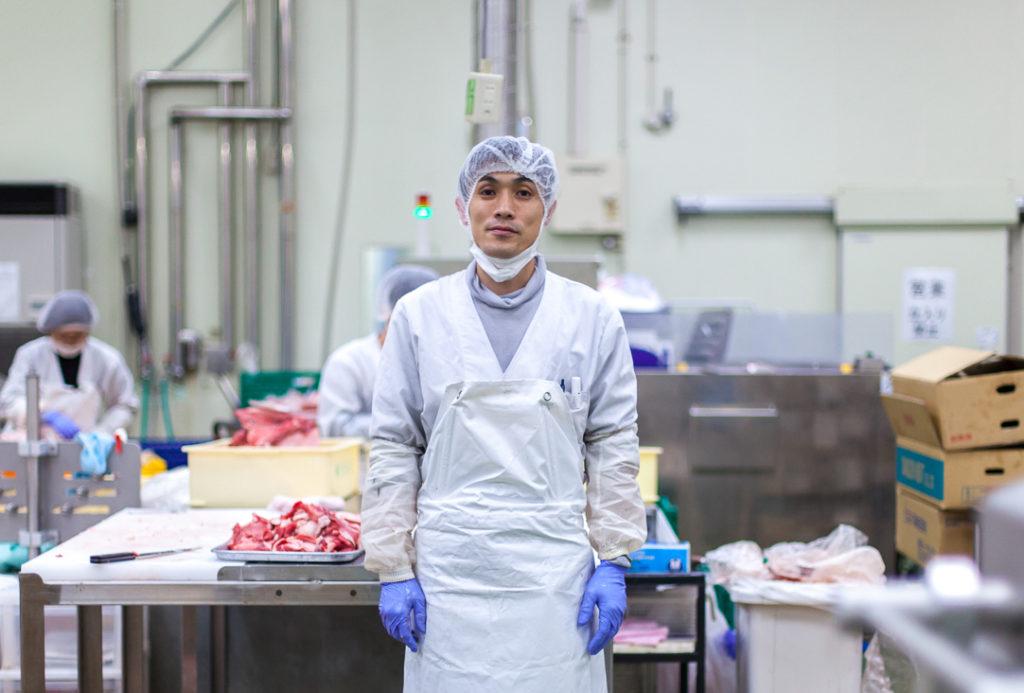 食肉加工の社員の画像